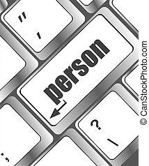 personne, informatique, mot, clã©, clavier
