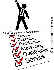 personne, liste, reussite, business, chèque