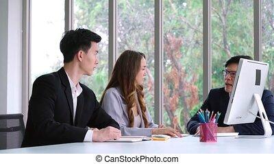 personne, problème, fâché, business, conflit, travail, réunion, groupe