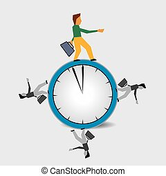 personne, rond, fonctionnement, horloge
