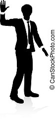 personne, silhouette, business