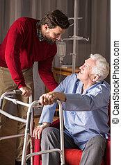 personne, soin, plus vieux