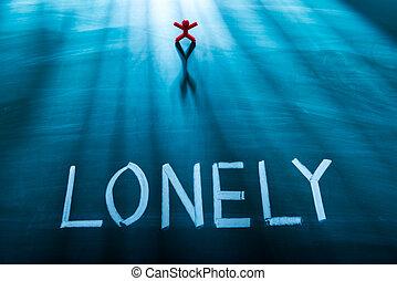 personne, solitaire, concept