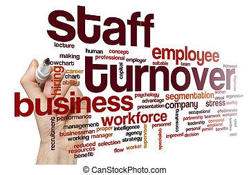 personnel, concept, mot, nuage, chiffre d'affaires