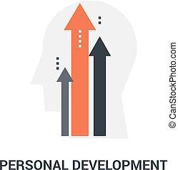personnel, développement, concept, icône