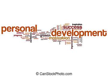 personnel, développement, concept, mot, nuage