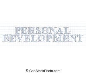 personnel, développement, mot, technique