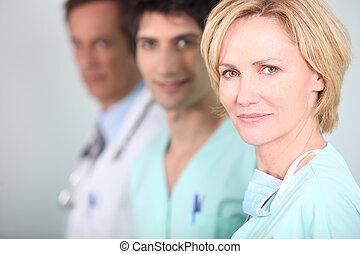 personnel, dans, a, hôpital
