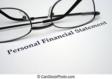 personnel, financier, déclaration
