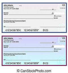 personnel, sécurité, chèques, watermark