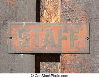 personnel, signage