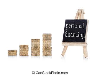 personnel, texte, financement, concept, tableau