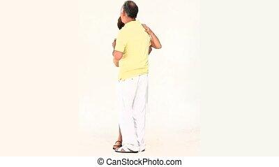 personnes âgées accouplent, danse