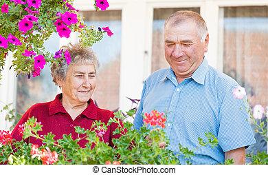 personnes âgées accouplent