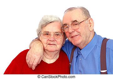 personnes agées, couple heureux