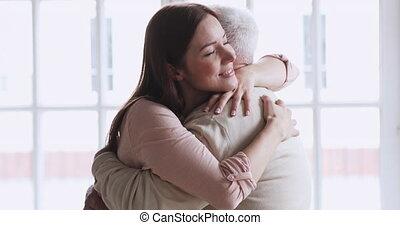 personnes agées, father., personne agee, heureux, jeune, ...