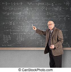 personnes agées, math, prof