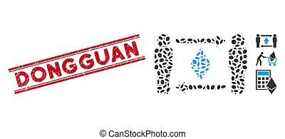 personnes, ligne, ethereum, mosaïque, timbre, échange, grunge, dongguan, icône