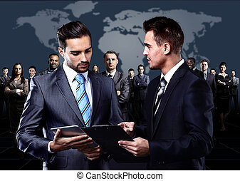 personnes réunion, business, groupe