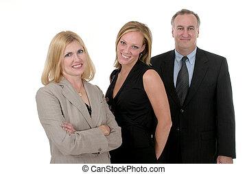 persoon, 2, drie, handel team
