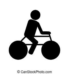 persoon, fiets helpend