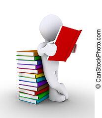 persoon, het boek van de lezing