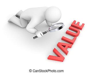 persoon, onderzoekt, waarde