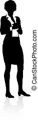 persoon, silhouette, zakelijk