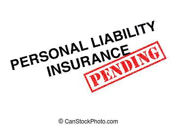 persoonlijk, aansprakelijkheid, verzekering