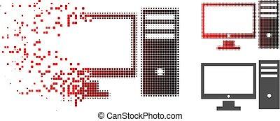 persoonlijk, halftone, schittering, computer, pixelated, pictogram
