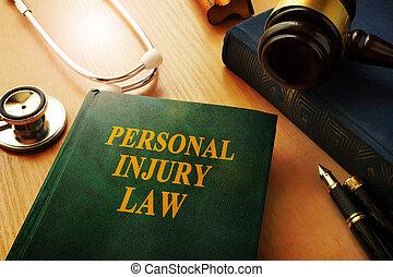 persoonlijk, letsel, boek, wet