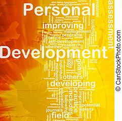 persoonlijk, ontwikkeling, achtergrond, concept
