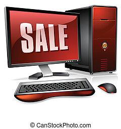 persoonlijk, realistisch, computer, desktop