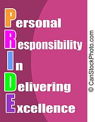 persoonlijk, verantwoordelijkheidsgevoel, in, deliveri
