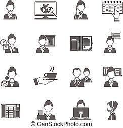 persoonlijke assistent, iconen