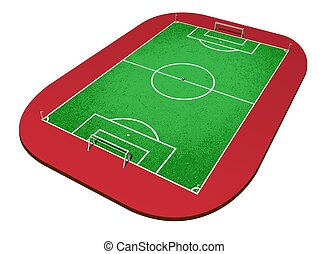 Perspectic view of a soccer field