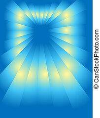 perspectief, blue-yellow