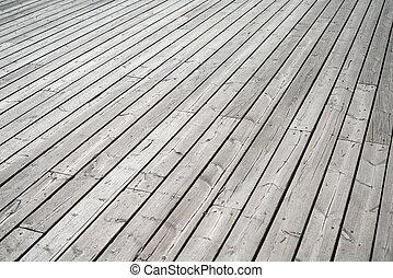 perspectiva, chão madeira