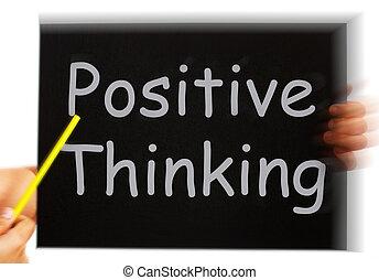 perspectiva, pensando, positivo, otimismo, luminoso, mensagem, mostra