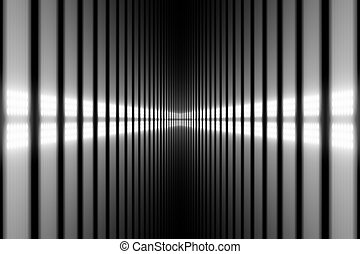 Abstract background - bright white light in perspective