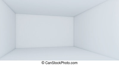 Perspective empty white room. 3d render