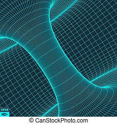 Perspective Grid Background - Abstract 3d Surface Looks Like...
