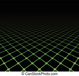 Perspective grid dark surface. Vector illustration.