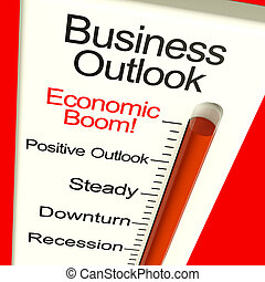 perspective, moniteur, business, croissance économique, boom, spectacles, récupération