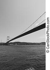 Perspective of Fatih Sultan Mehmet Bridge in Istanbul -...