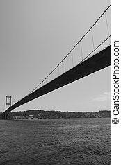 Fatih Sultan Mehmet Bridge over Bosporus - Perspective of...