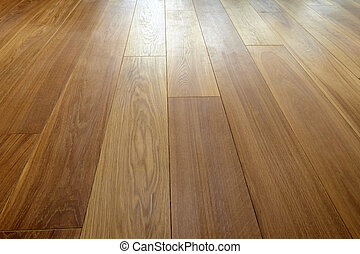 Perspective of Hardwood floor in close up