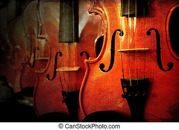 Perspective of many violin