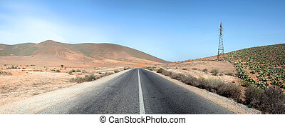Perspective of road in Morocco