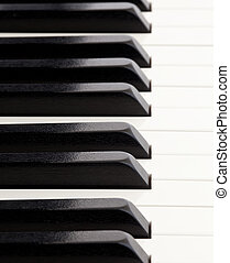 Perspective on piano keys